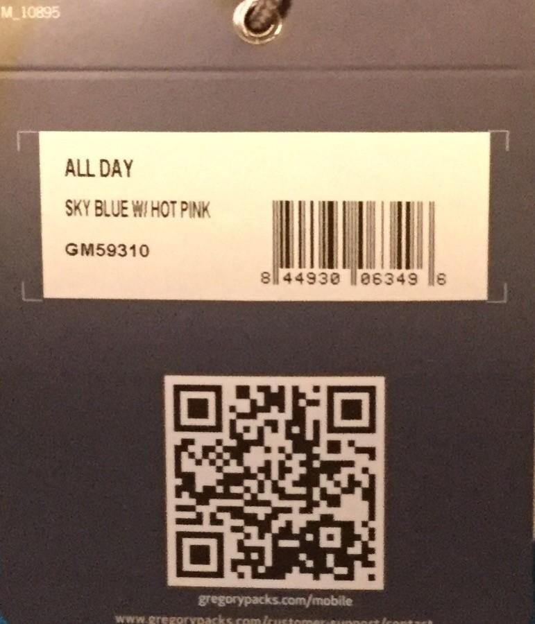 新品★グレゴリー★ALL DAY オールデイ★Sky blue w/ Hot pink★GREGORY★リュックサック★バッグ★デイパック ハーフデイ