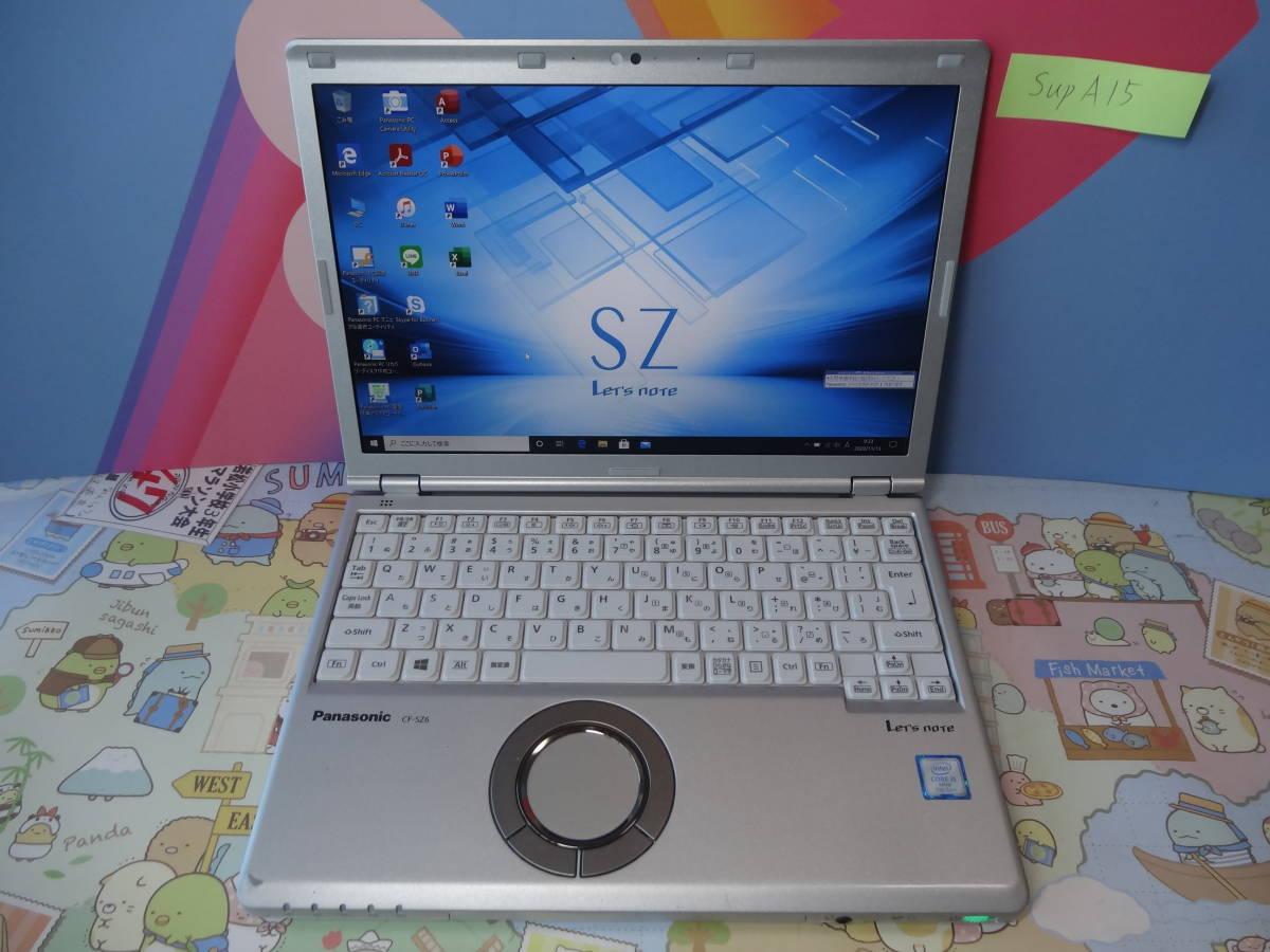 Panasonic Let's Note CF-SZ6 i5-7300u 8gb M.2 256gb SSD MS office2019 Windows10pro 6