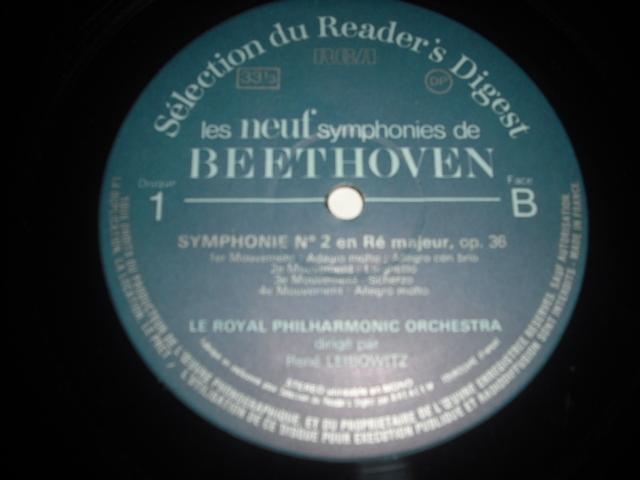 仏RCA ルネ・レイボヴィッツ指揮/ベートーヴェン交響曲全集 7LPbox-リーダーズ・ダイジェスト盤-_画像3