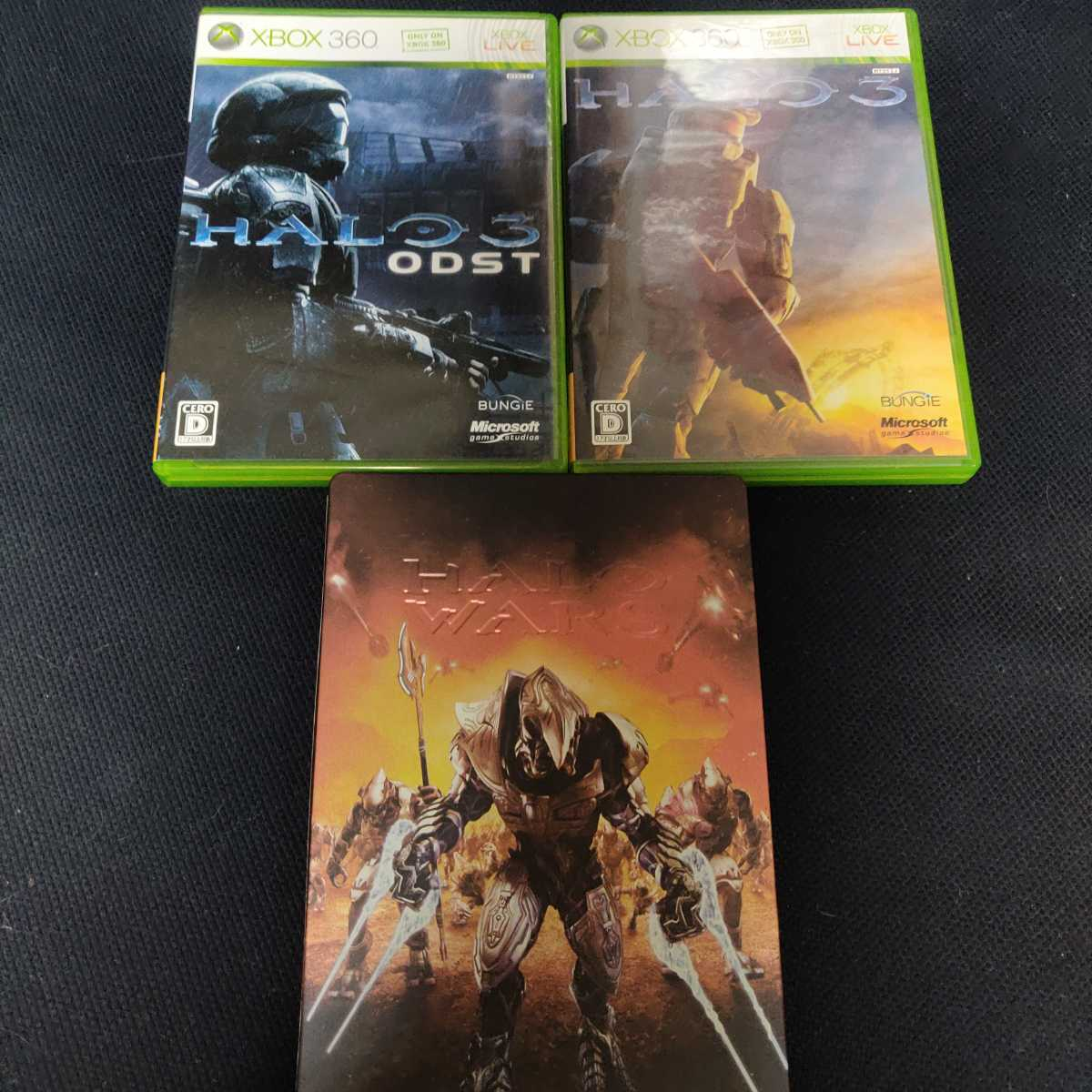 Xbox360 HALO 3 3点セット / HALO3 + ODST + HALO WARS 限定版