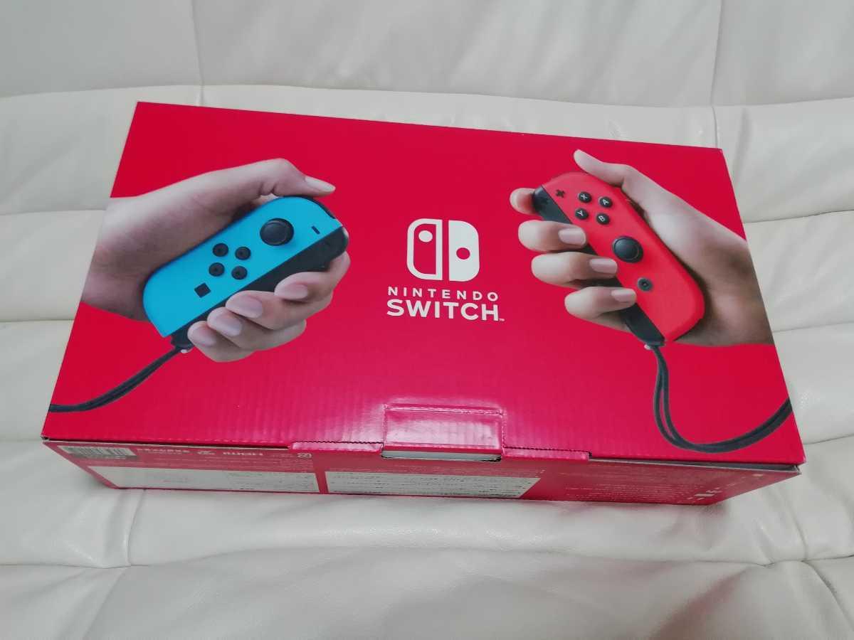 【未使用品】任天堂 ニンテンドー スイッチ 本体 Nintendo Switch Joy-Con (L)ネオンブルー/(R)ネオンレッド HAD-S-KABAA 新モデル_画像2