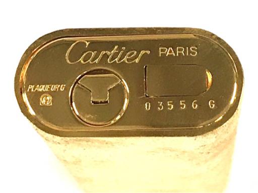美品 カルティエ ガスライター オーバル型 総柄 ゴールド金具 約7×2.5cm 着火◯ 付属品有り Cartier_画像6