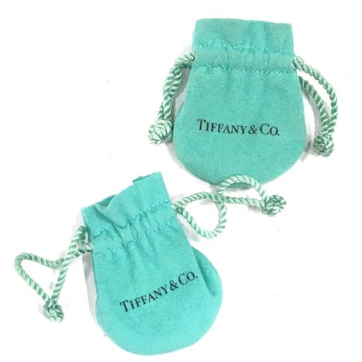 ティファニー レター ペンダント a エルサペレッティ & ダブルループ ネックレス SV925 計2点 袋付 Tiffany&Co._画像7