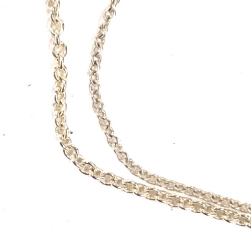 ティファニー レター ペンダント a エルサペレッティ & ダブルループ ネックレス SV925 計2点 袋付 Tiffany&Co._画像5