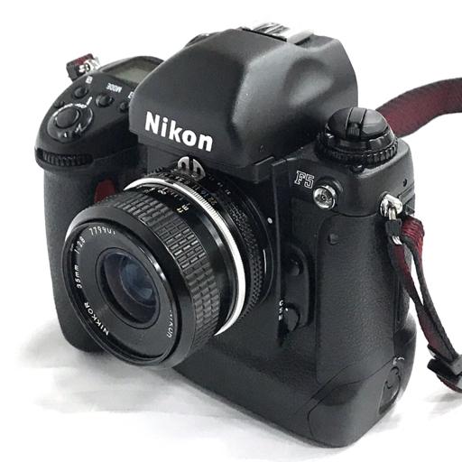 Nikon F5 一眼レフフィルムカメラ ボディ Ai NIKKOR 35mm F2.8 レンズ TC-200 2X テレコンバーター 付属