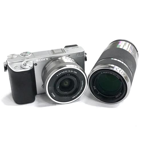 1円 SONY α6400 ミラーレス一眼レフカメラ ボディ SELP1650 E 3.5-5.6 16-50 SEL55210 E 4.5-6.3 55-210 レンズ