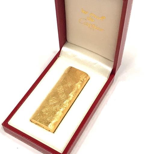 美品 カルティエ ガスライター オーバル型 総柄 ゴールド金具 約7×2.5cm 着火◯ 付属品有り Cartier_画像1