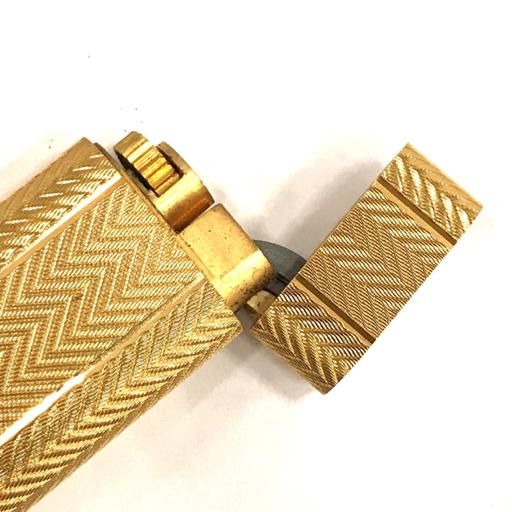 カルティエ ガスライター オーバル 総柄 ゴールド金具 約7×2.5cm 着火× 付属品有り Cartier_画像5