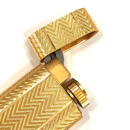 カルティエ ガスライター オーバル 総柄 ゴールド金具 約7×2.5cm 着火× 付属品有り Cartier_画像4