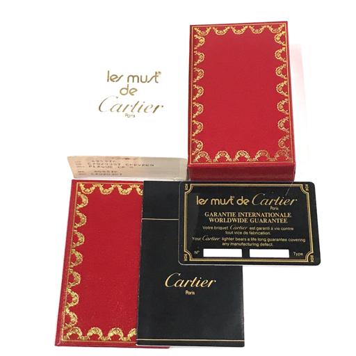 カルティエ ガスライター オーバル 総柄 ゴールド金具 約7×2.5cm 着火× 付属品有り Cartier_画像7