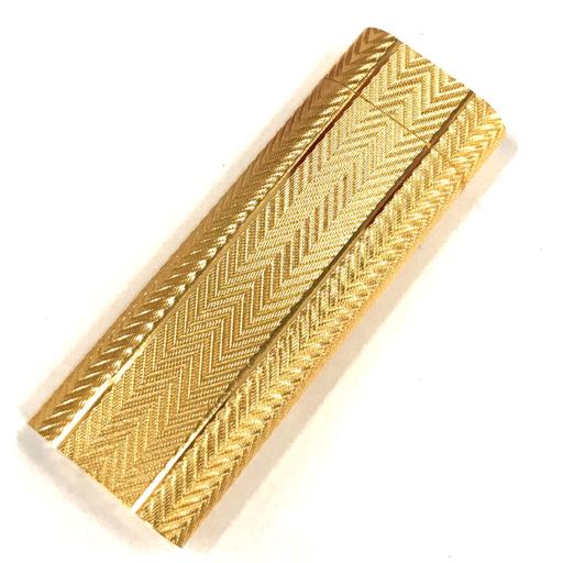 カルティエ ガスライター オーバル 総柄 ゴールド金具 約7×2.5cm 着火× 付属品有り Cartier_画像3