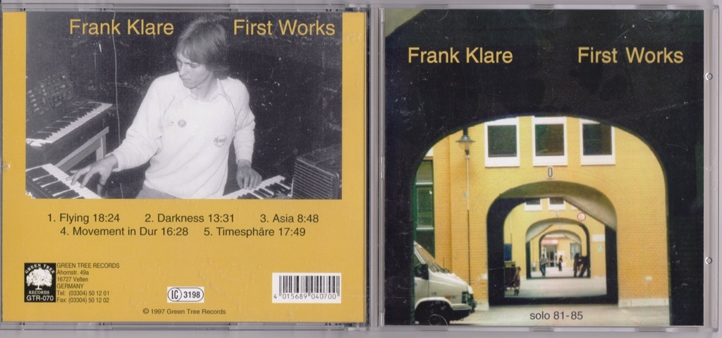 Frank Klare First Works (Solo 81-85) リマスターCD