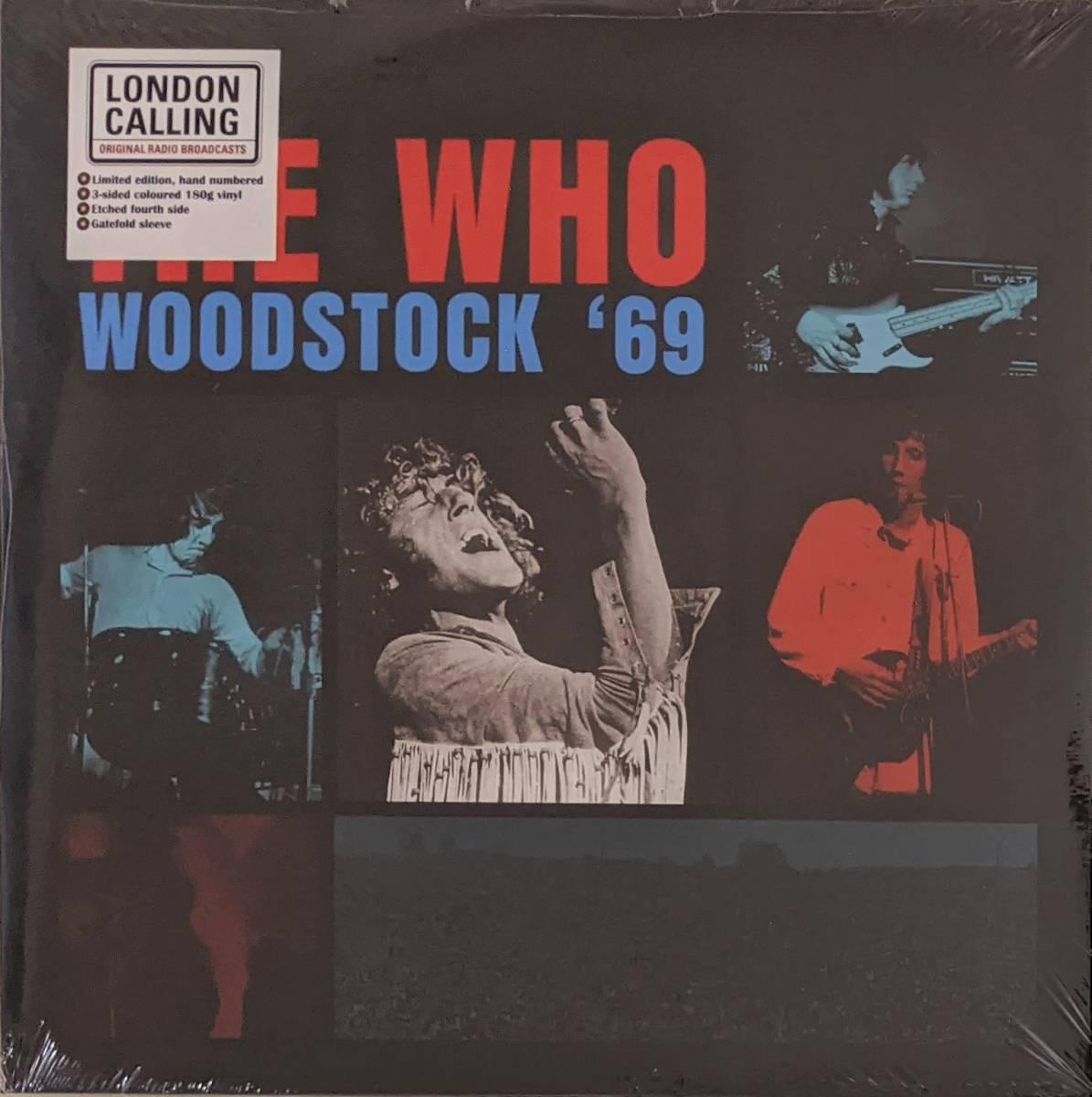The Who ザ・フー - Woodstock '69 手書き番号入り限定二枚組レッド・ブルー・カラー・アナログ・レコード