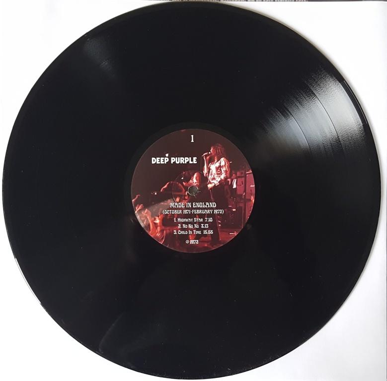 Deep Purple ディープ・パープル - Made In England 1971-1972 500枚限定アナログ・レコード