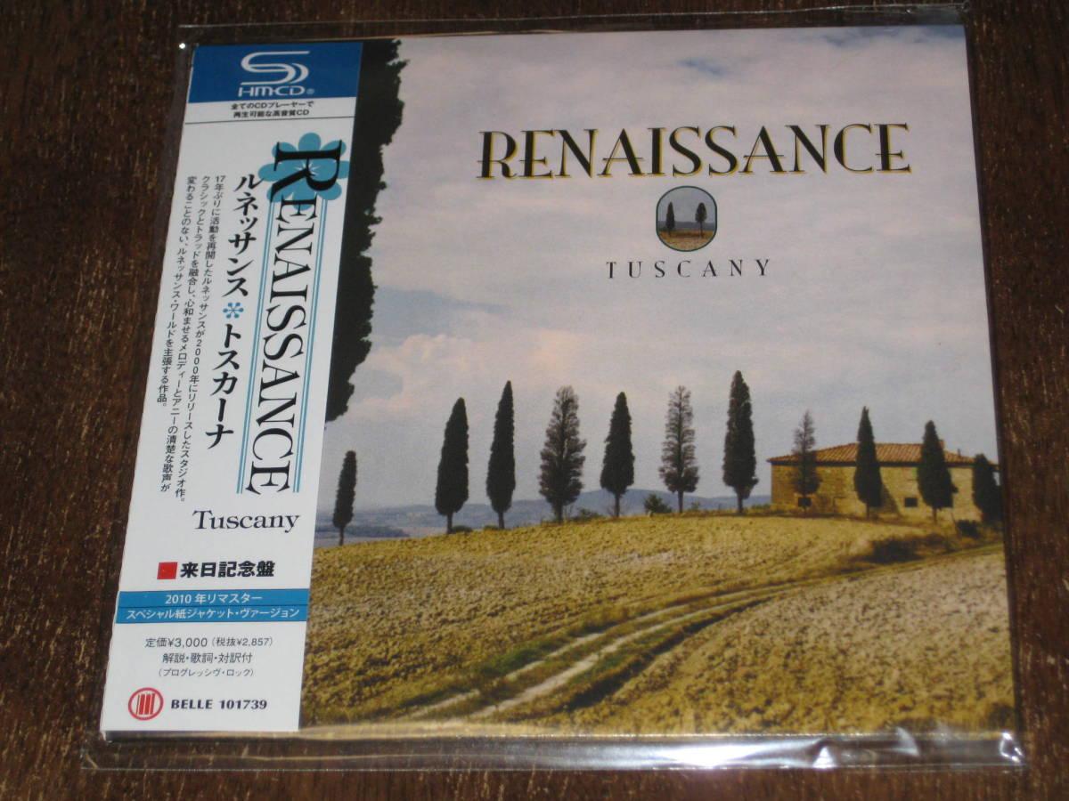 RENAISSANCE ルネッサンス / トスカーナ 2010年リマスター 紙ジャケ SHM-CD 国内帯有