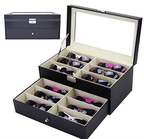 12 GardenLightess glasses sunglasses storage case box collection case two-stage 12