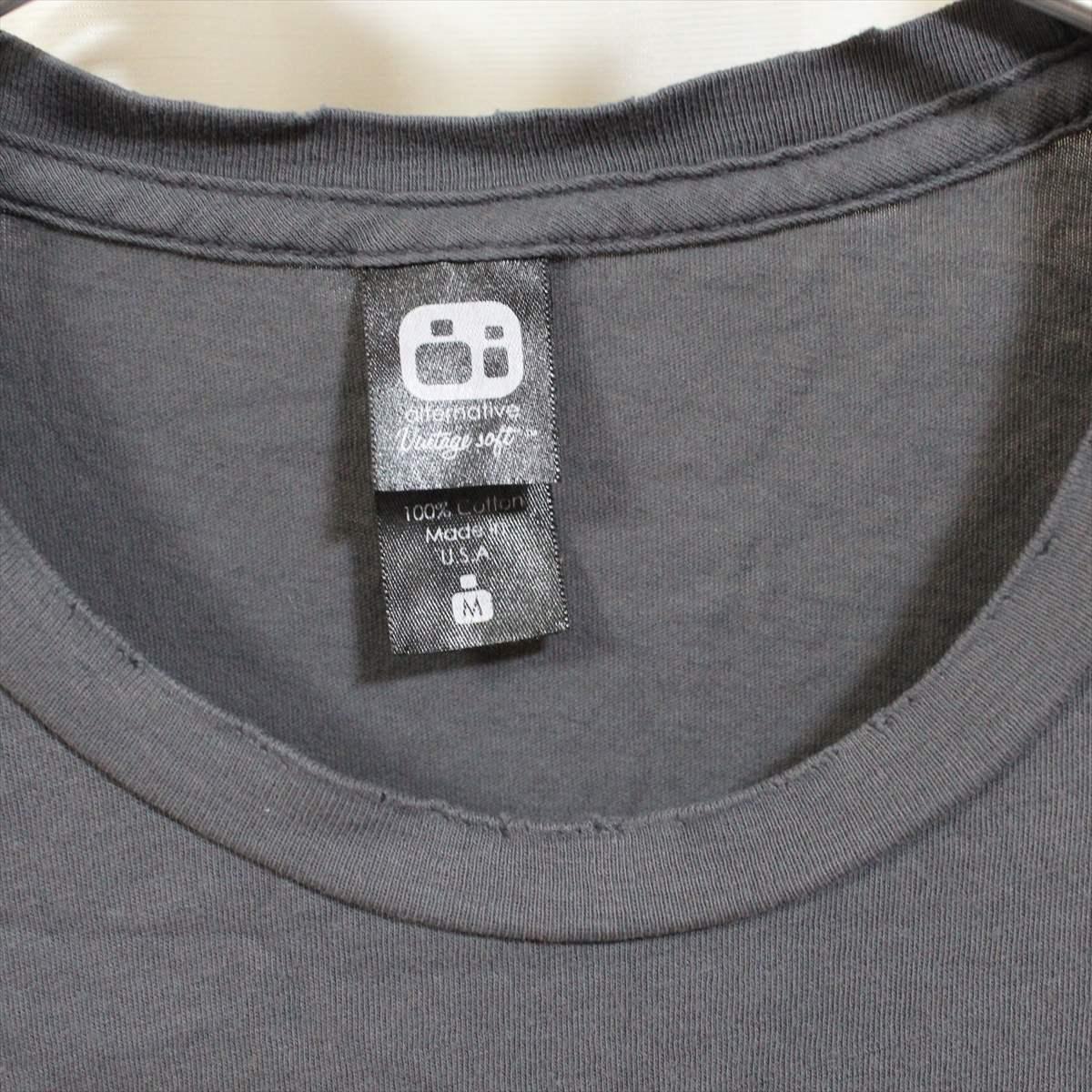 オルタナティブ アパレル alternative apparel レディース半袖Tシャツ チャコール Mサイズ 新品 vintage soft アメリカ製_画像2