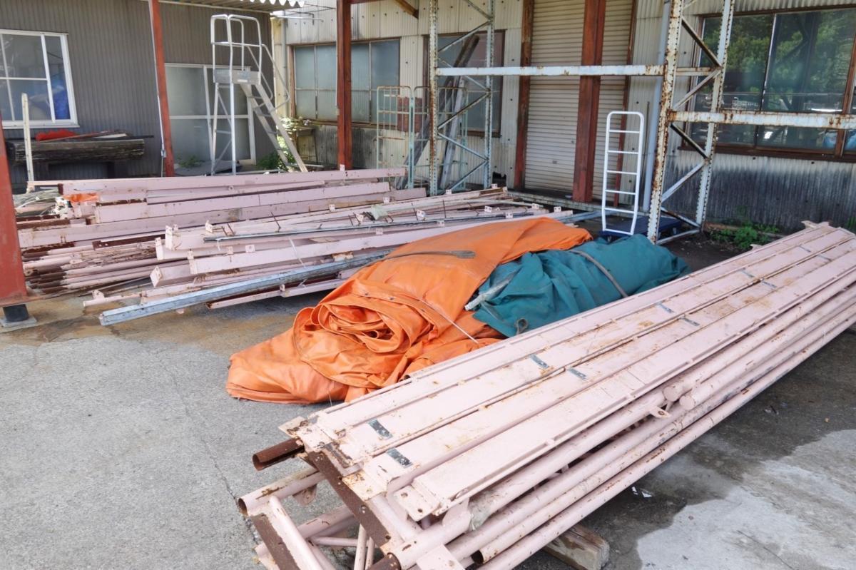 静岡県 中古 大型 テント倉庫 物置_画像6