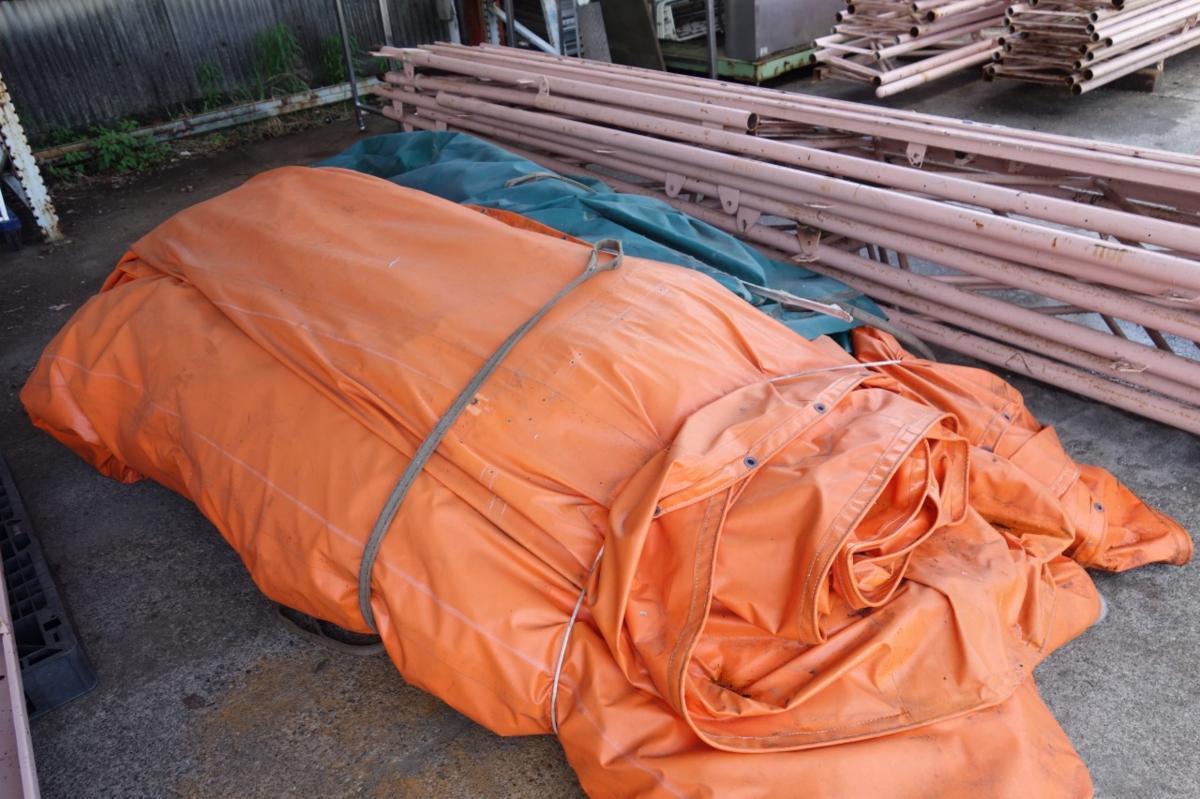 静岡県 中古 大型 テント倉庫 物置_画像8