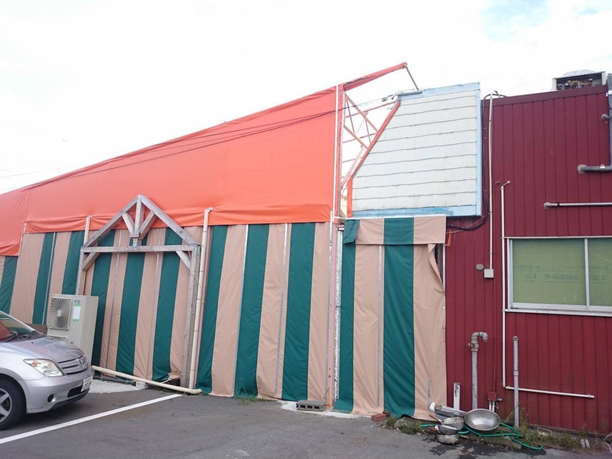 静岡県 中古 大型 テント倉庫 物置_画像3