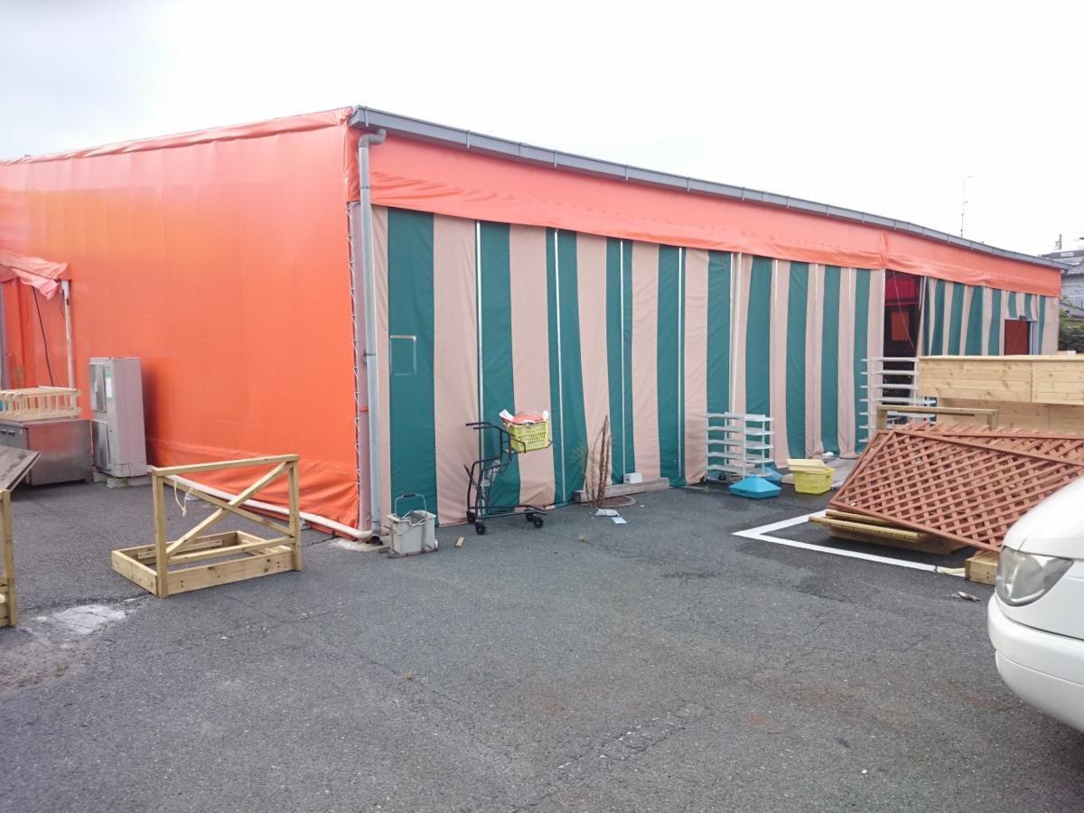 静岡県 中古 大型 テント倉庫 物置_画像1