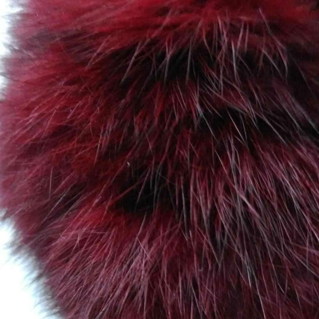 ファーマフラー(ワインレッド) 毛皮 ティペット