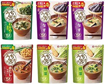 アマノフーズ フリーズドライ 味噌汁 ( なす 野菜 わかめ 赤だしなめこ) 4種類 30食 うちの おみそ汁 わさび茶漬け セ_画像3