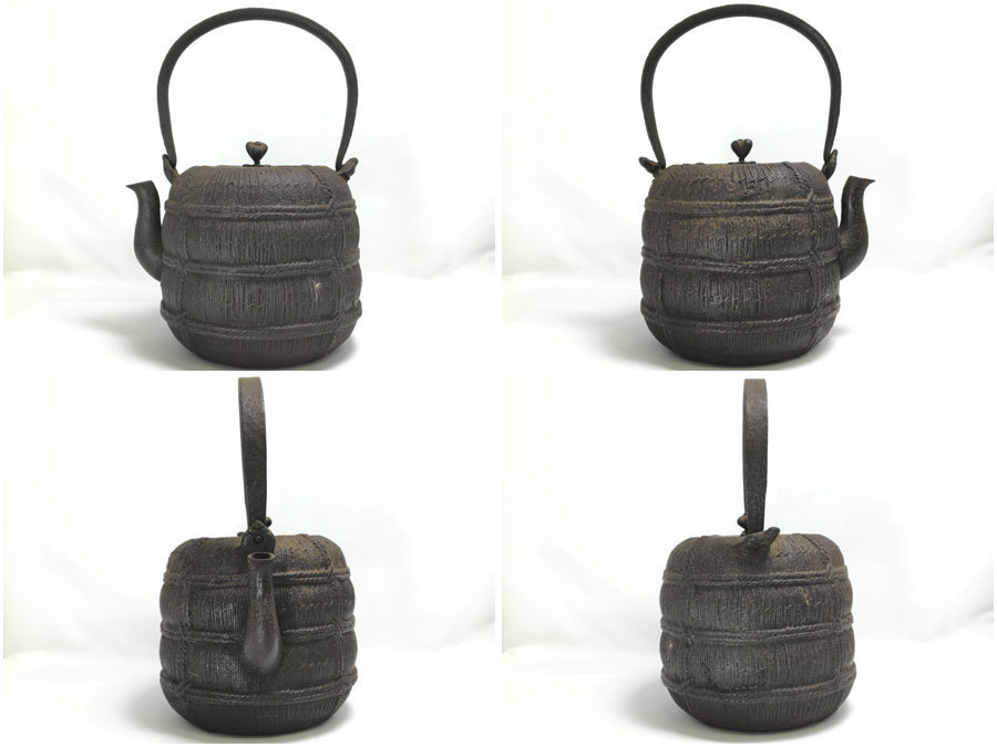 晴寿堂造 銅蓋 銘あり 鉄瓶 茶道具 煎茶道具_画像2