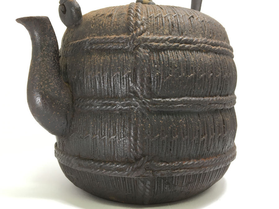 晴寿堂造 銅蓋 銘あり 鉄瓶 茶道具 煎茶道具_画像3