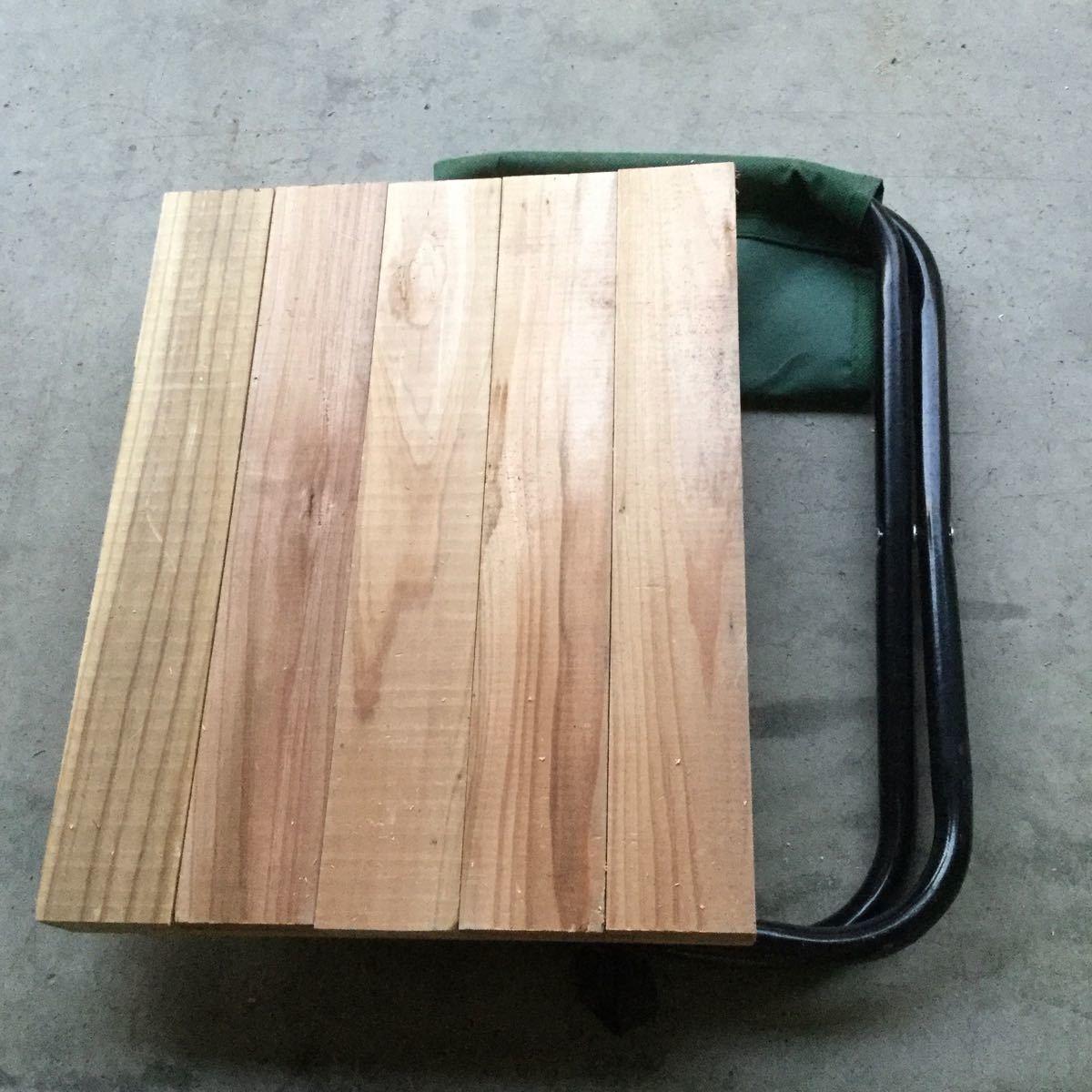 折り畳み椅子用天板 ミニテーブル 杉無垢材 トールペイント パーツ