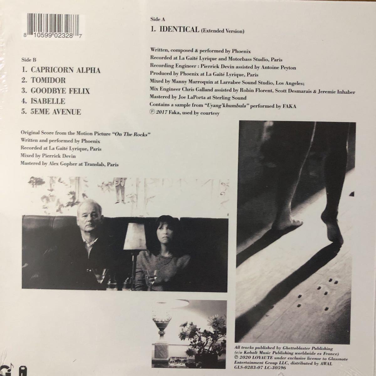 【新品 未聴品】Phoenix / identical 7inch EP ソフィアコッポラ on the rocks two door cinema club kitsune 入手難 希少_画像2