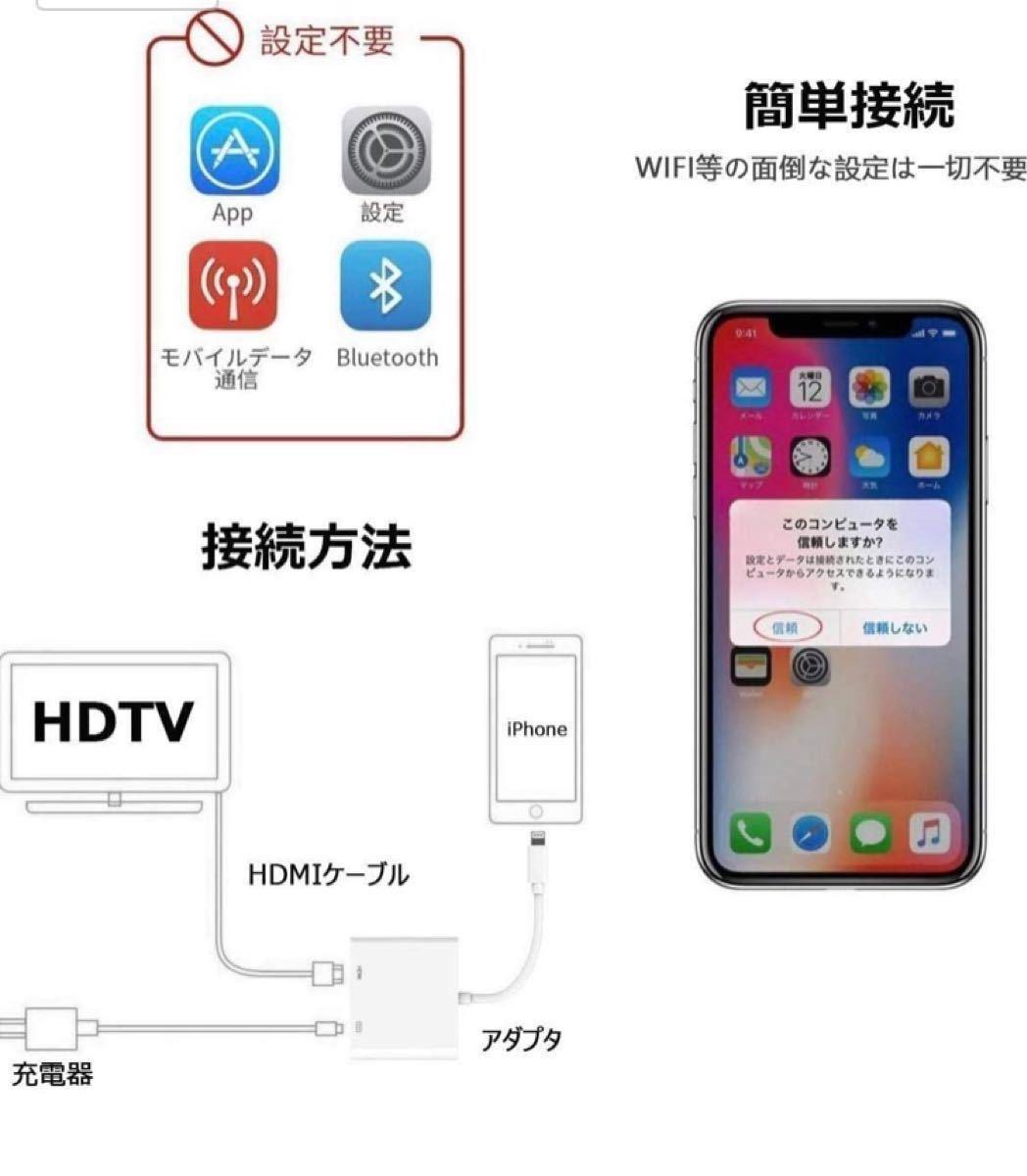 HDMI HDMI変換ケーブル ライトニング