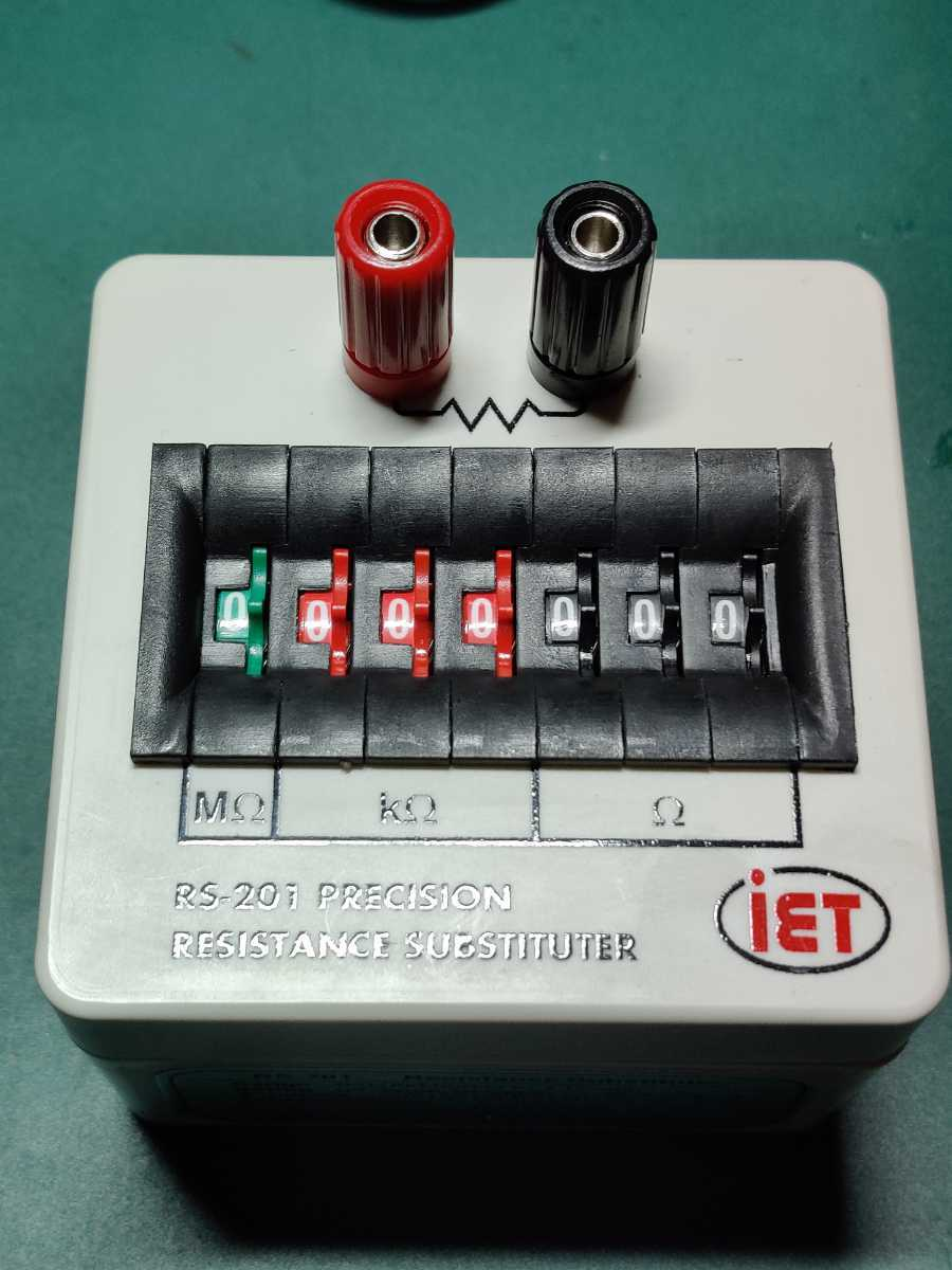IET LABS RS-201 resistance substituter box 高精度 7桁 小型 ダイヤル可変抵抗器 decade box 0-9999999Ω