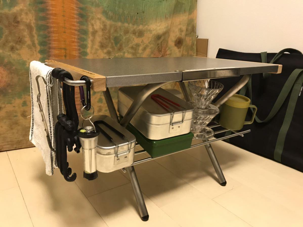 [新品未使用][即日発送]ユニフレーム UNIFLAME 焚き火テーブル カスタム パーツ ステンレス製 サイドバー 1本のみ ≪No17≫