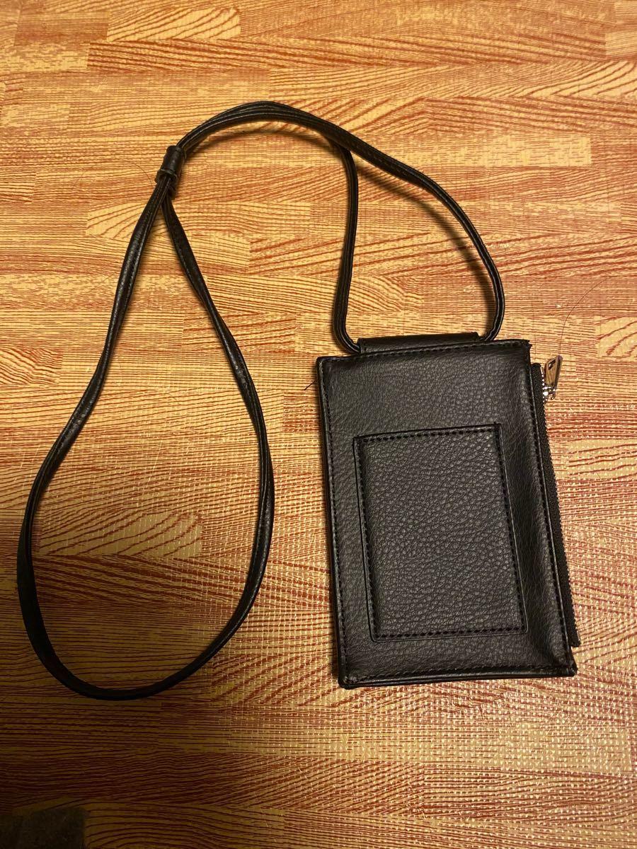 コインケース カードケース パスケース 定期入れ ブラック