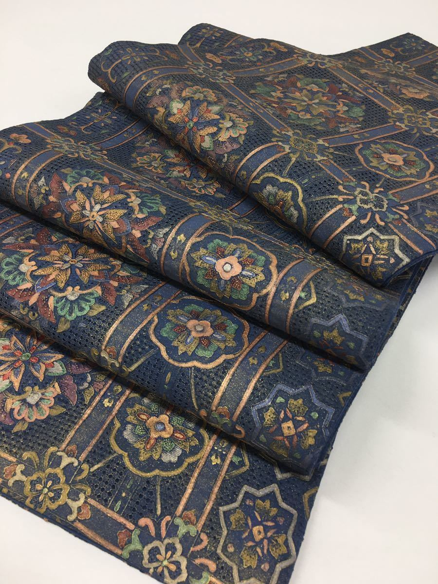 全通袋帯 蘇州刺繍 相良刺繍 汕頭刺繍 袋帯 お仕立て上がり 正絹