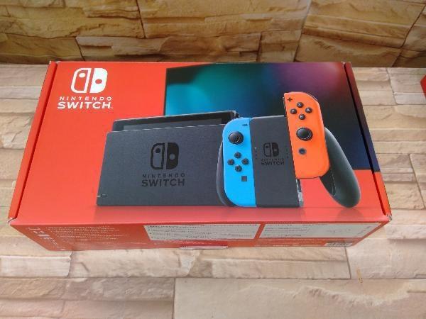 動作確認済 Nintendo Switch Joy-Con(L) ネオンブルー/(R) ネオンレッド(HADSKABAA)(バッテリー拡張モデル)_画像1