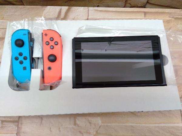 動作確認済 Nintendo Switch Joy-Con(L) ネオンブルー/(R) ネオンレッド(HADSKABAA)(バッテリー拡張モデル)_画像4