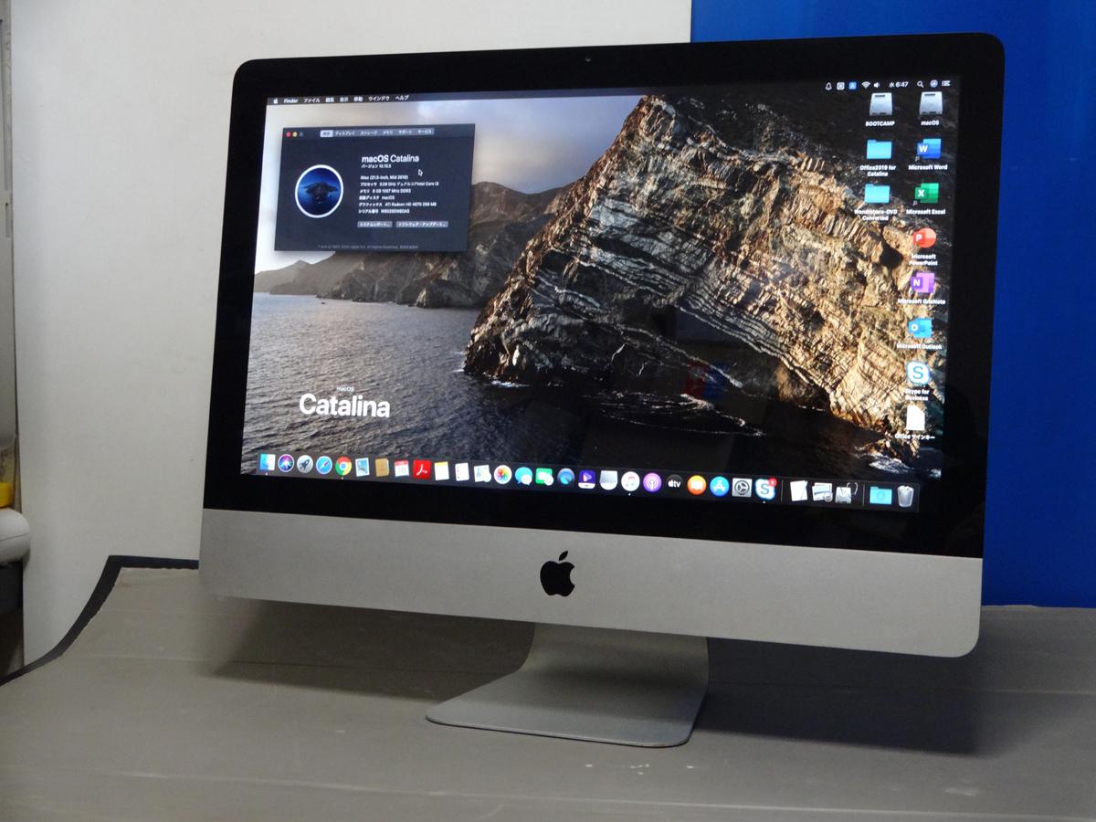 iMac/A1311/21.5inchi/Mid-2010/Core i3/1TB-HDD/W-OS/Catalina & Windows10Pro/即決時特典あり_画像1