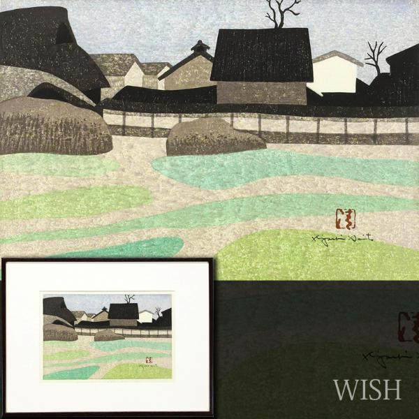 【真作】【WISH】斉藤清「西の京 奈良(春)」木版画 1972年作   〇文化功労者 世界的版画家 #20112644
