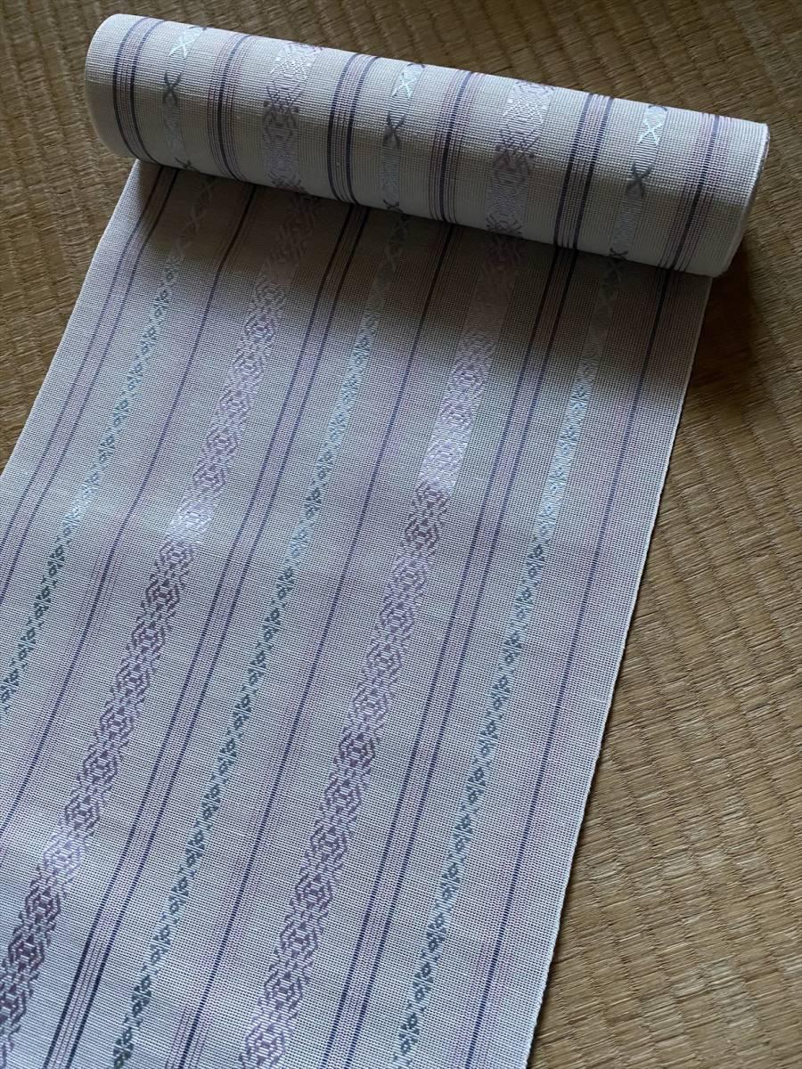 新品未使用■博多紗献上八寸帯■反物■4万■1_画像2
