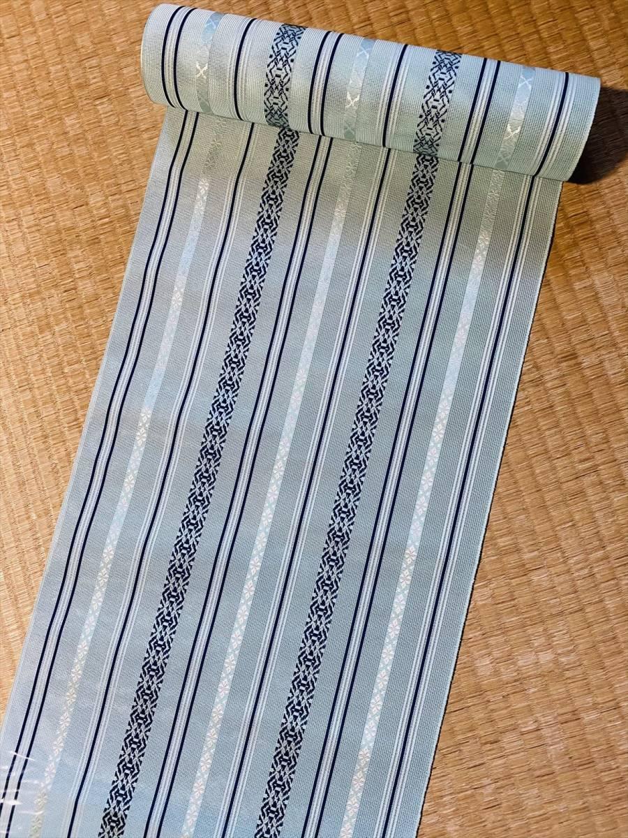 新品未使用■博多紗献上八寸帯■反物■4万■2_画像2