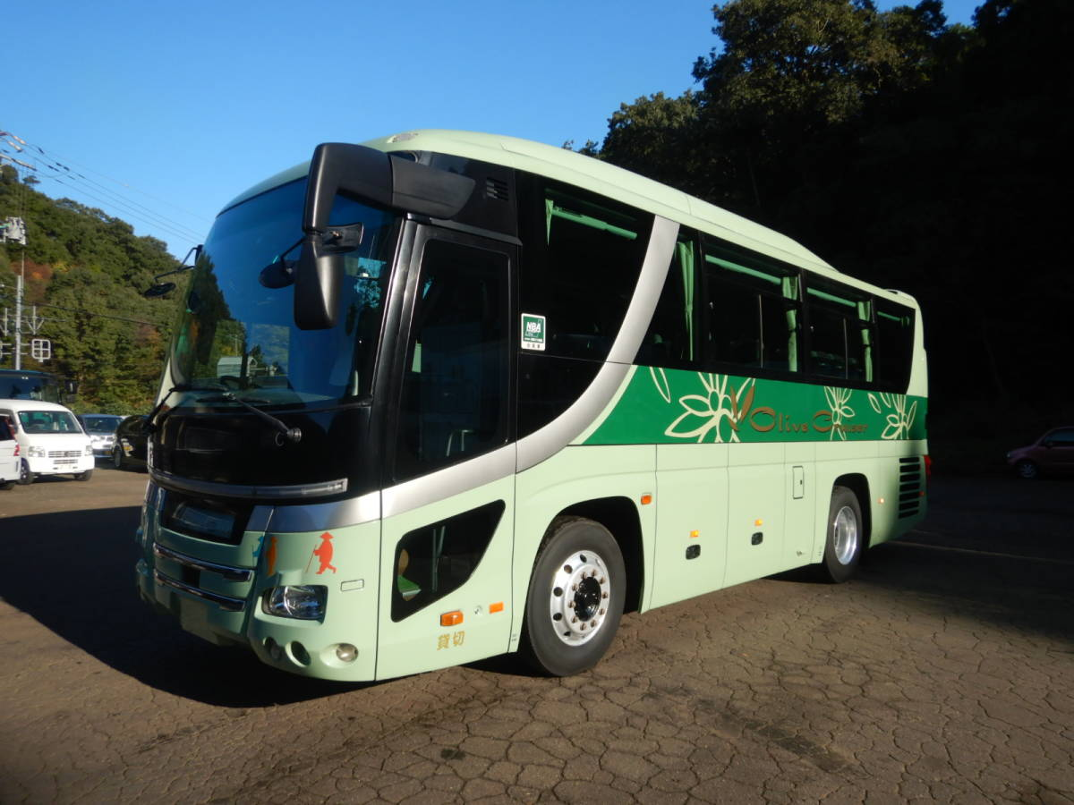 「【CH15860】H22年 日野 セレガ 1オーナー車 実走12万㌔台 29人乗り サロン仕様 観光バス 自動スイングドア 貫通トランク 装備多数 中型バス」の画像1