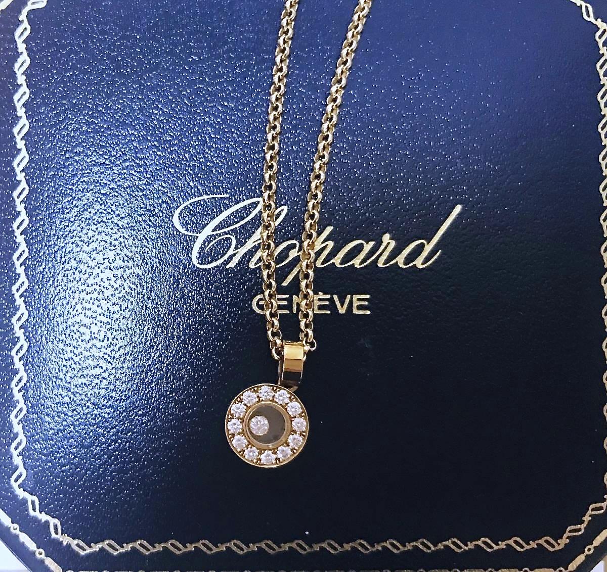 ショパール ハッピーダイヤモンド ペンダント 0.29ctダイヤモンド 18Kイエローゴールド _画像1