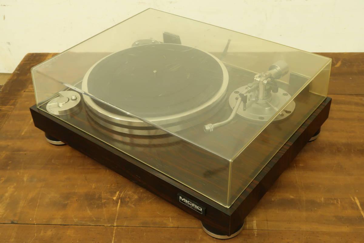 中古 ターンテーブル (1) MICRO マイクロ BL-77 レコードプレーヤー 通電OK