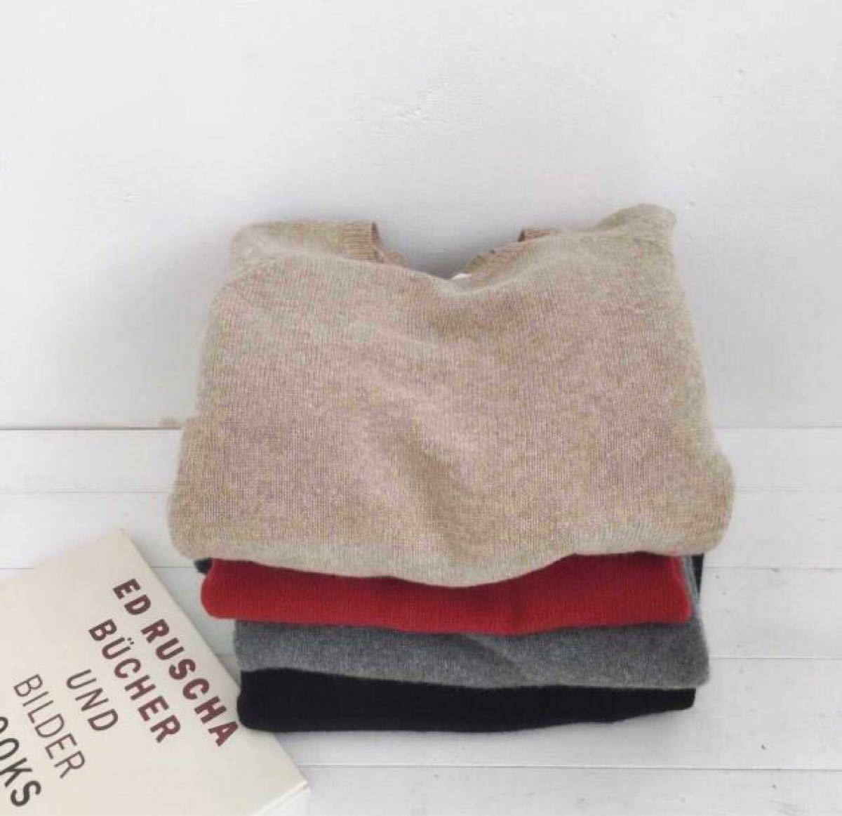 ドレスワンピース ニットワンピース ロングセーター レッド 赤 フリーサイズ