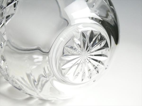 k404 ウォーターフォード クリスタル マーキス ベース 花瓶 花入 飾壷_画像4