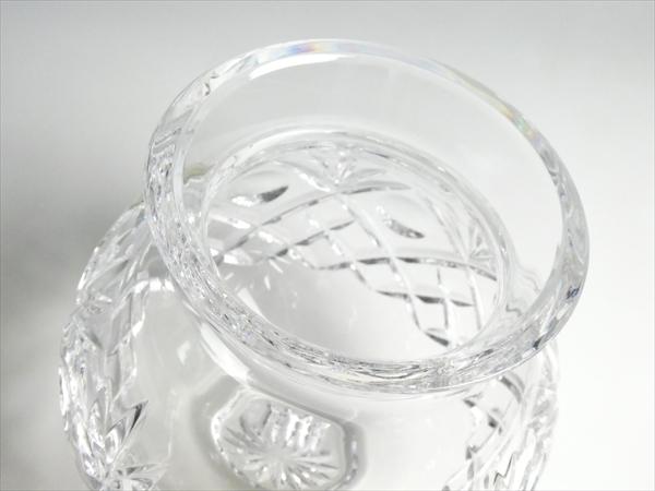 k404 ウォーターフォード クリスタル マーキス ベース 花瓶 花入 飾壷_画像3