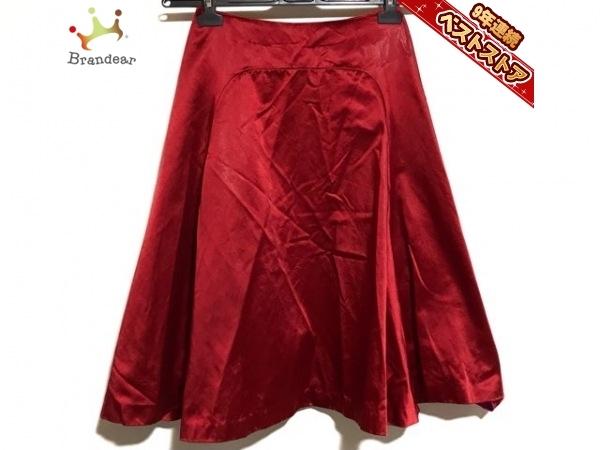 ドゥロワー Drawer ロングスカート サイズ36 S - レッド レディース ボトムス