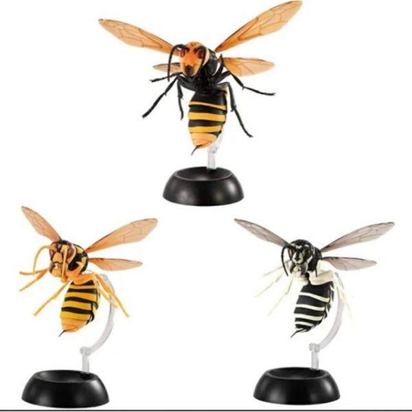 新品 すずめばち スズメバチ ガシャポン 全3種セット 【 オオスズメバチ・キイロスズメバチ・クロスズメバチ 】 ガチャガチャ ハチ_画像2